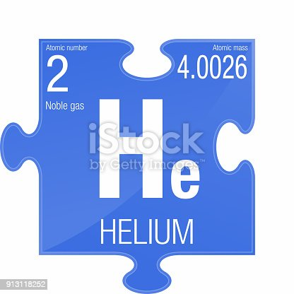 Helium Symbol Element Number 2 Of The Periodic Table Of The Elements