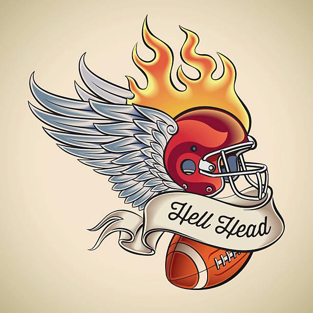football tattoos stock illustrations
