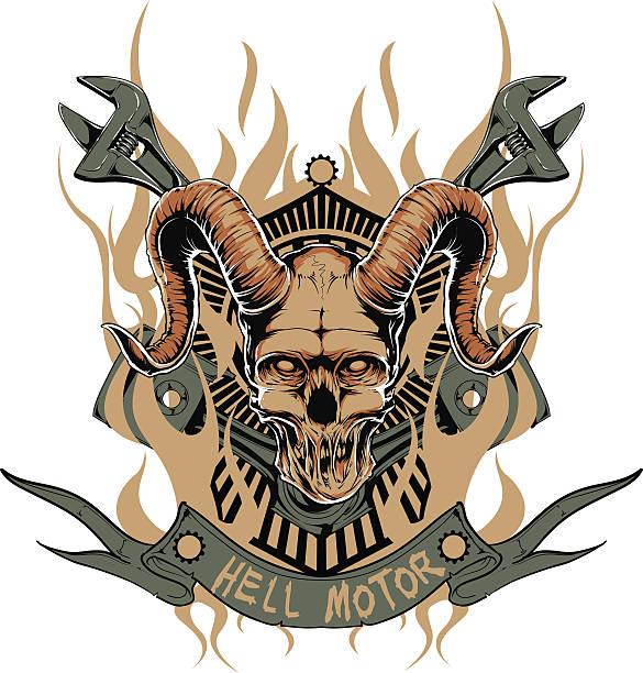 Hell motor vector art illustration