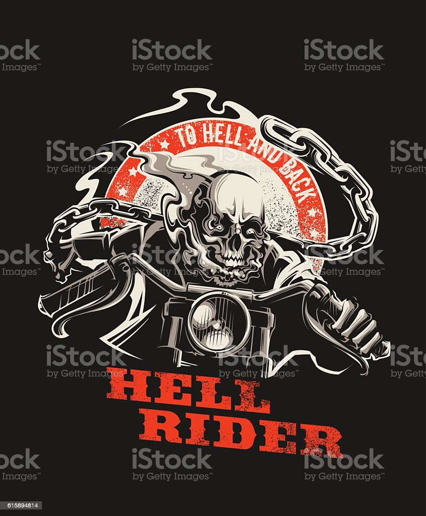 Hell Rider vector art illustration