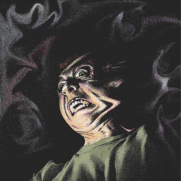 illustrazioni stock, clip art, cartoni animati e icone di tendenza di ghoul infernale - malvagità