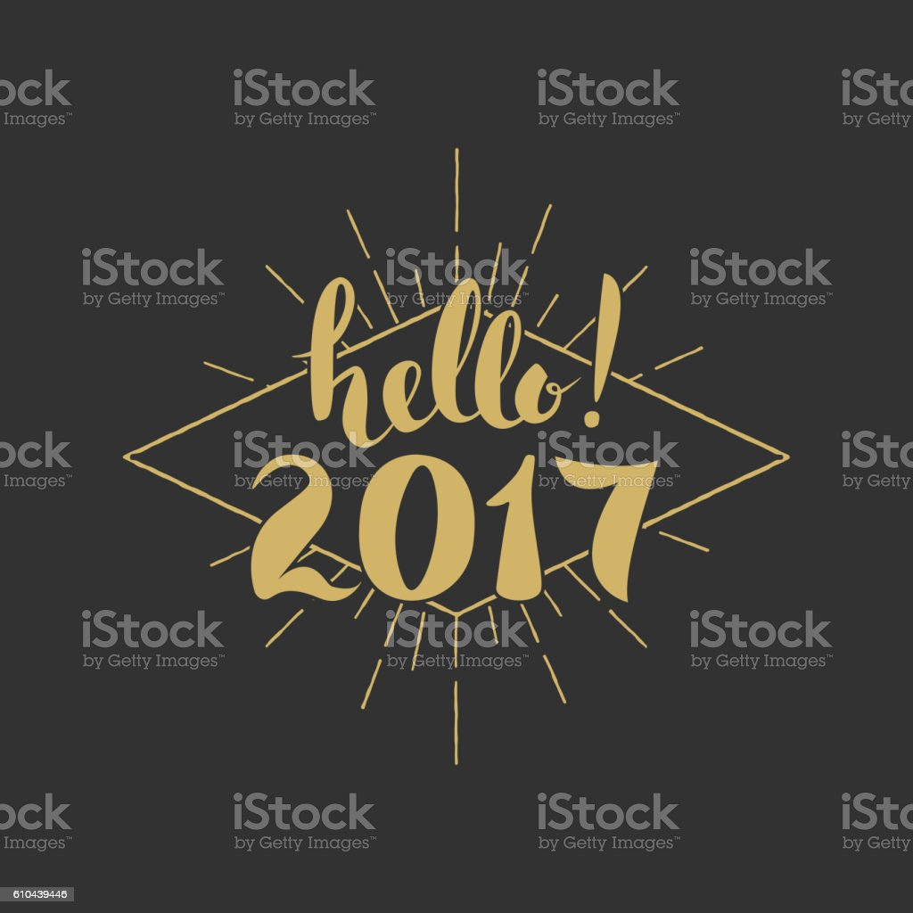 hello 2017 merry christmas happy new year hand drawn letterin 2017