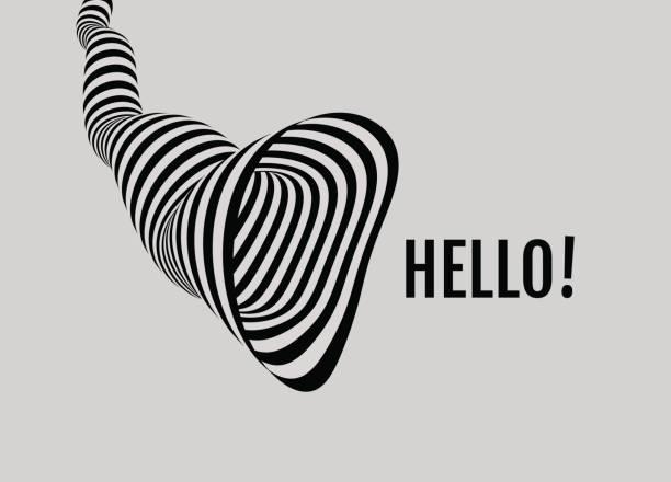 Hello! 3D vector illustration. vector art illustration