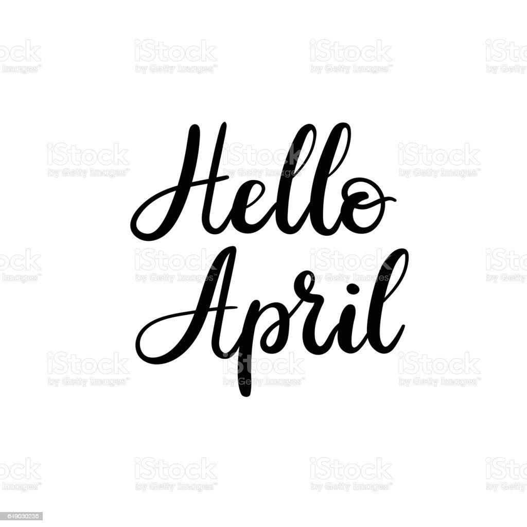 hallo april hand schriftzug inschrift gru karte mit. Black Bedroom Furniture Sets. Home Design Ideas