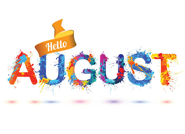 Clip Art Calendar August : Royalty free august clip art vector images