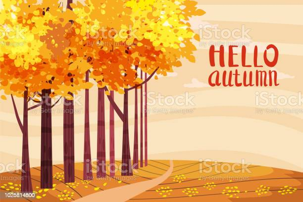 Hello autumn autumn alley path in the park fall autumn leaves mood vector id1025814800?b=1&k=6&m=1025814800&s=612x612&h=h3z4vsuebr3dda7y6jyyyobalcn22aj6nn6gwxgrtha=