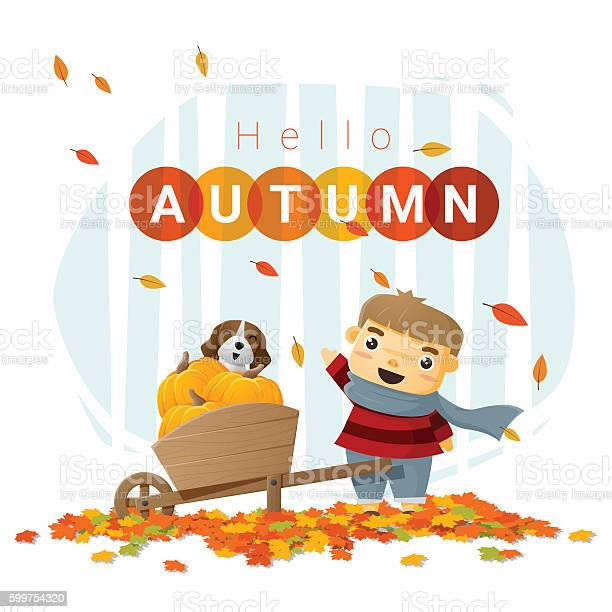 Hello autumn background with little boy 3 vector id599754320?b=1&k=6&m=599754320&s=612x612&h=kcm32kf5zojpvn8wena3ja25v oesipqhwfbyakwj84=
