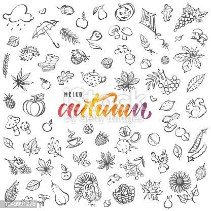 istock Hello autumn card 1249991275