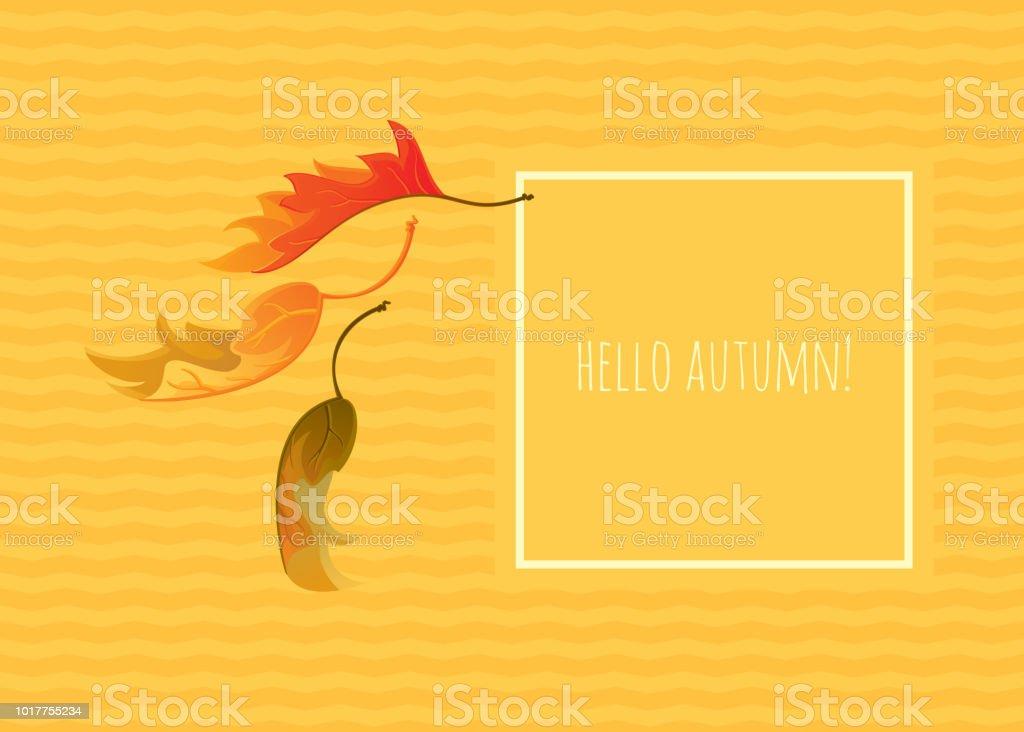 Hello Autumn! vector art illustration