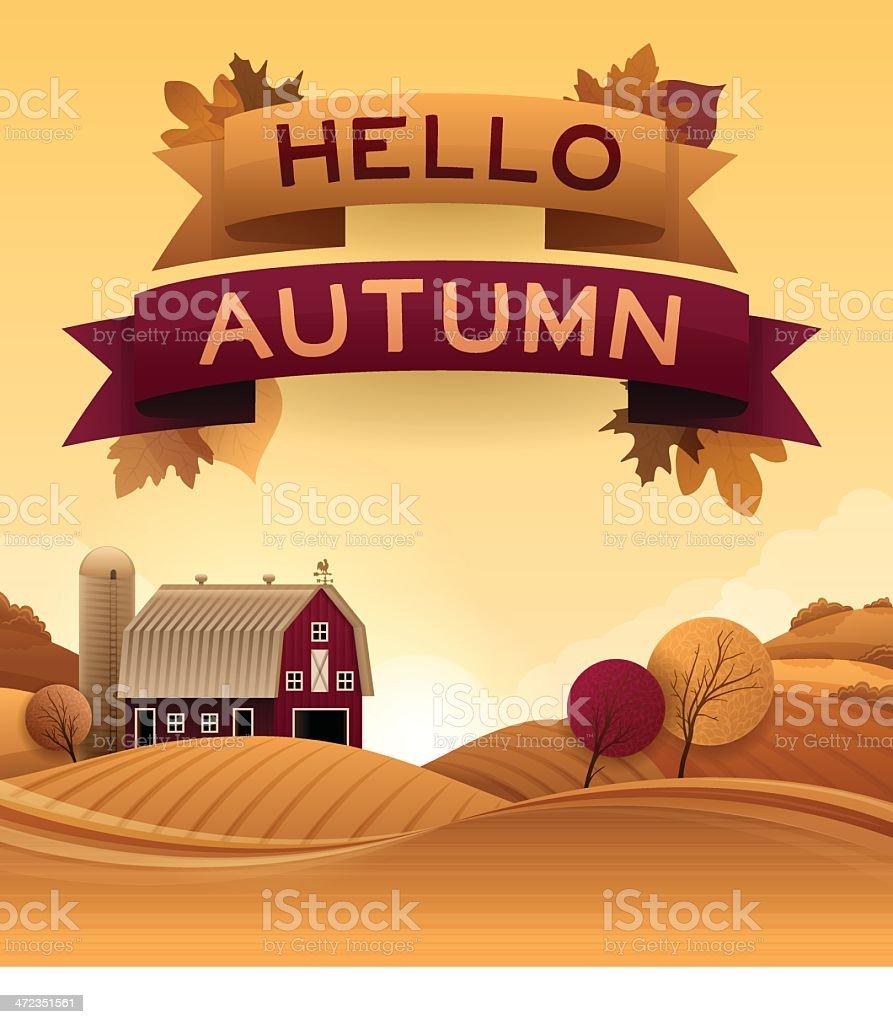 Bonjour l'automne - Illustration vectorielle