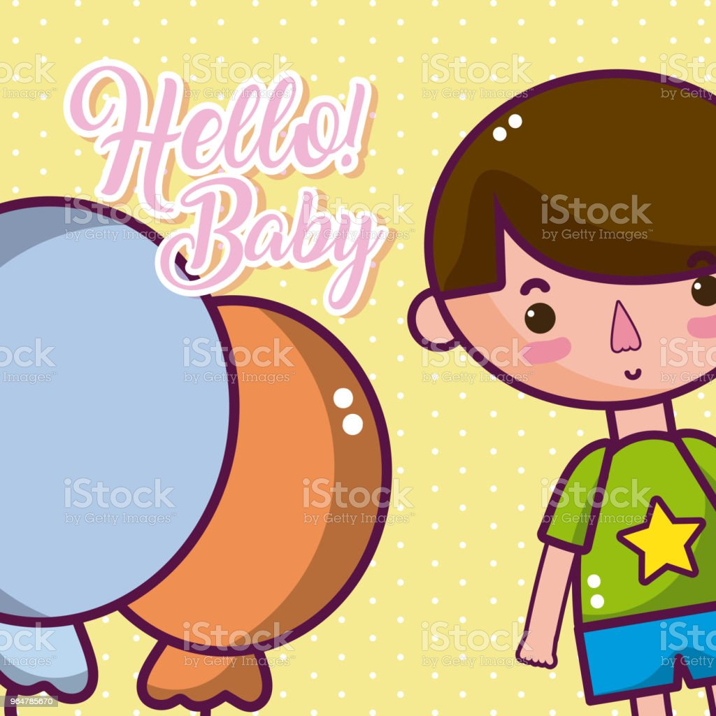Hello baby cute card royalty-free hello baby cute card stock vector art & more images of affectionate