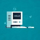 istock Hello Computer 516099524