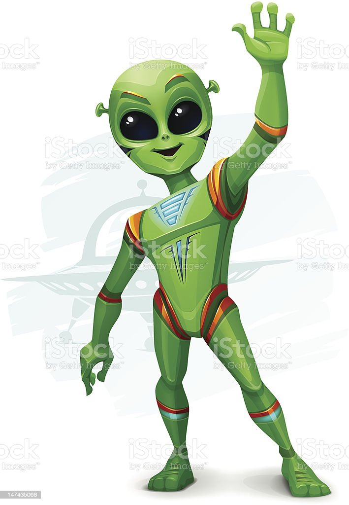 Hello Earthlings! royalty-free hello earthlings stock vector art & more images of alien