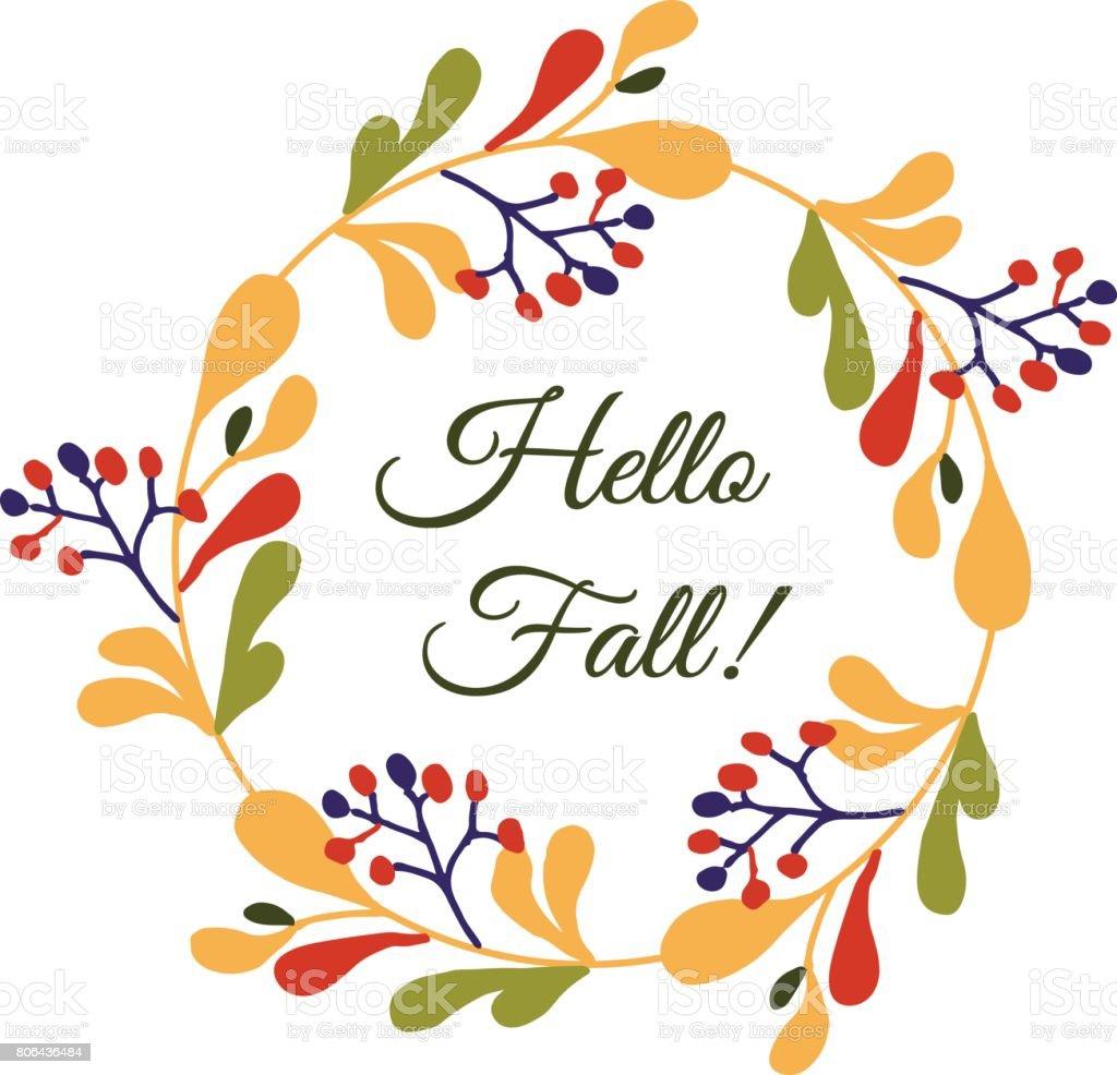 Autumn, Banner   Sign, Circle, Season, Ukraine. Hello Fall Flower Card ...