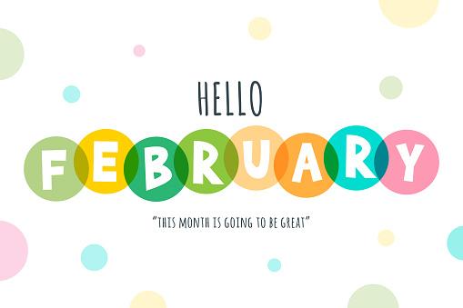 Hello February lettering stock illustration