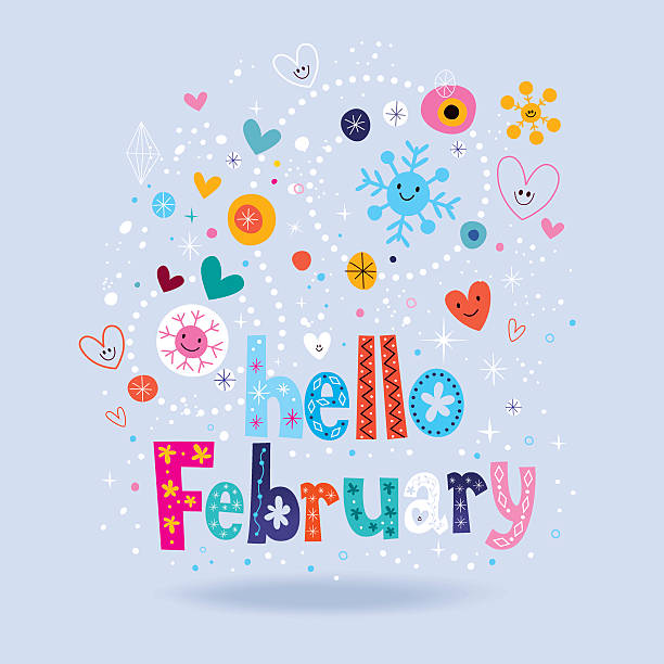 february illustrations royalty  vector graphics