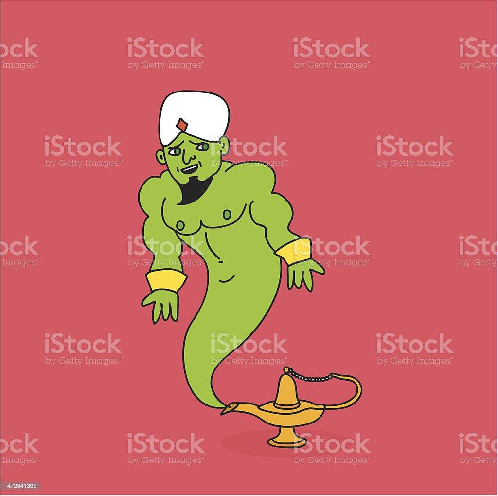 Hello Genie royalty-free stock vector art