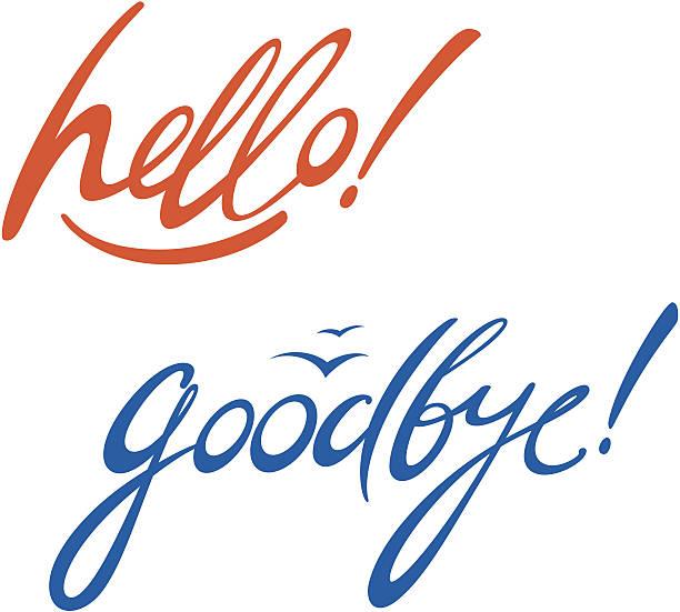 hello goodbye - hello stock-grafiken, -clipart, -cartoons und -symbole