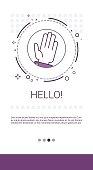 Hello Hand Gesture Greeting Banner