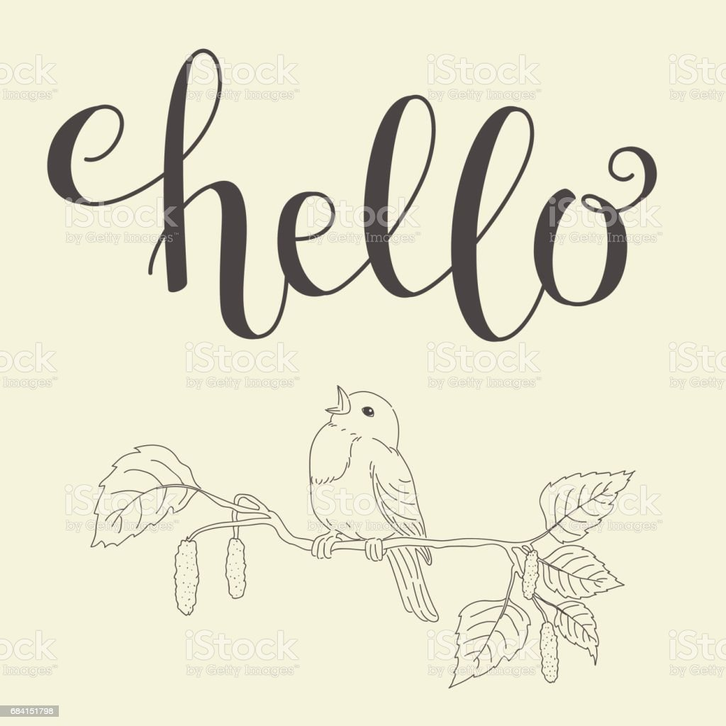 Hello handwritten lettering royalty-free hello handwritten lettering stock vector art & more images of abstract