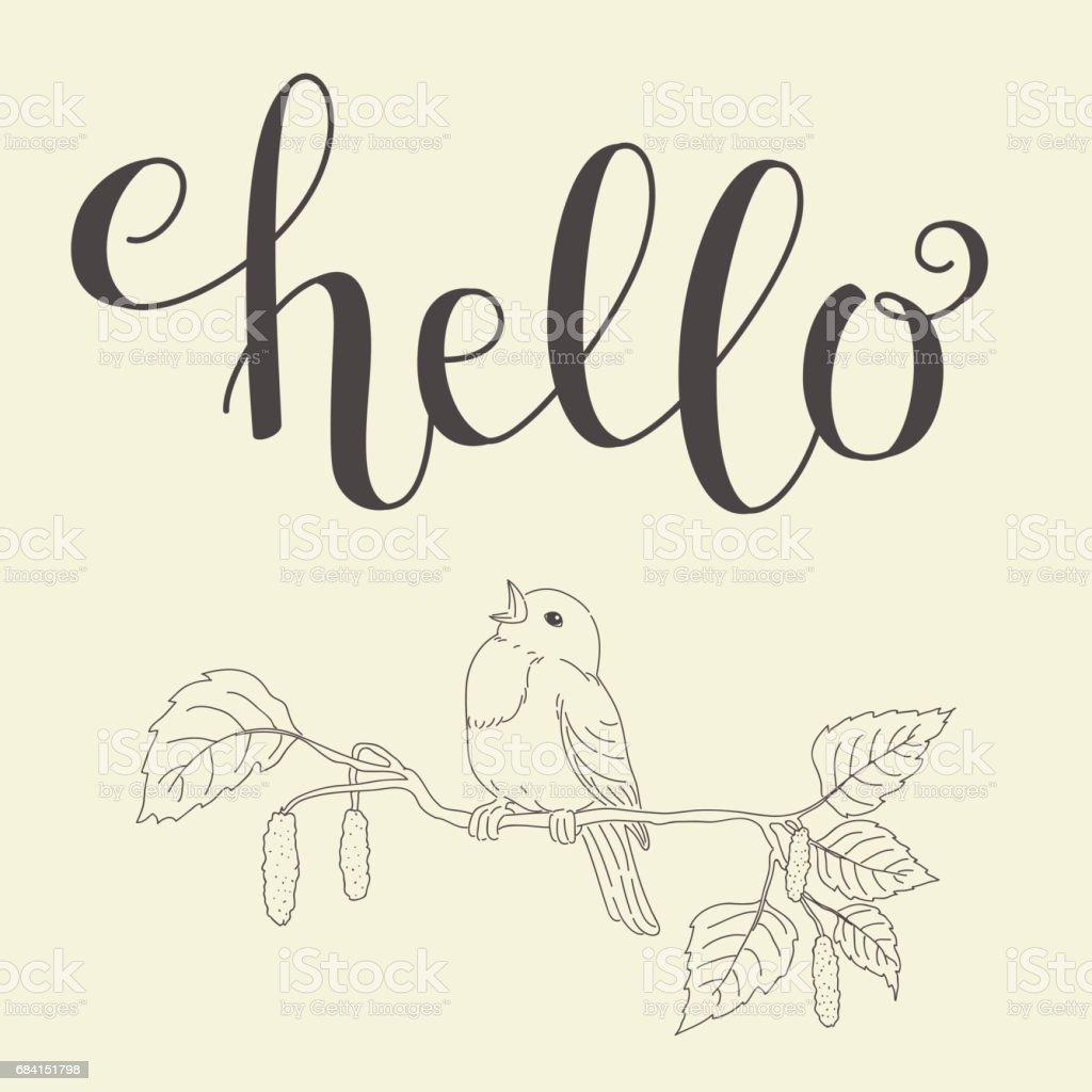 Hello handwritten lettering ロイヤリティフリーhello handwritten lettering - tシャツのベクターアート素材や画像を多数ご用意