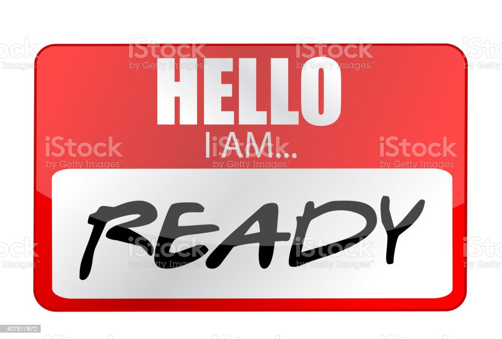 Hello I am ready tags. Illustration design over a white background vector art illustration
