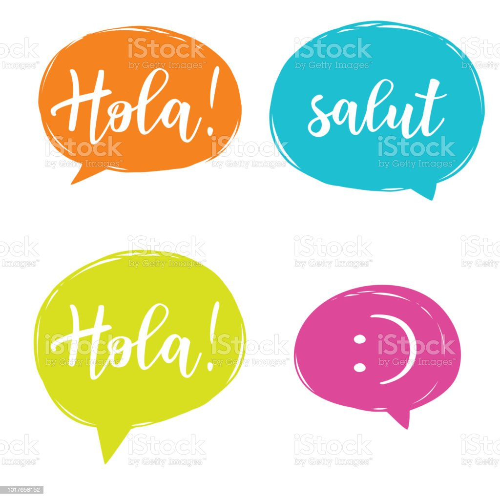 Hello In Different Languages Stock Vector Art More Images Of