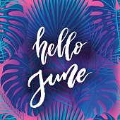 Hello June brush lettering.