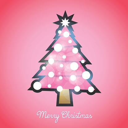Hello Kitty, Christmas tree, pink tree, vector