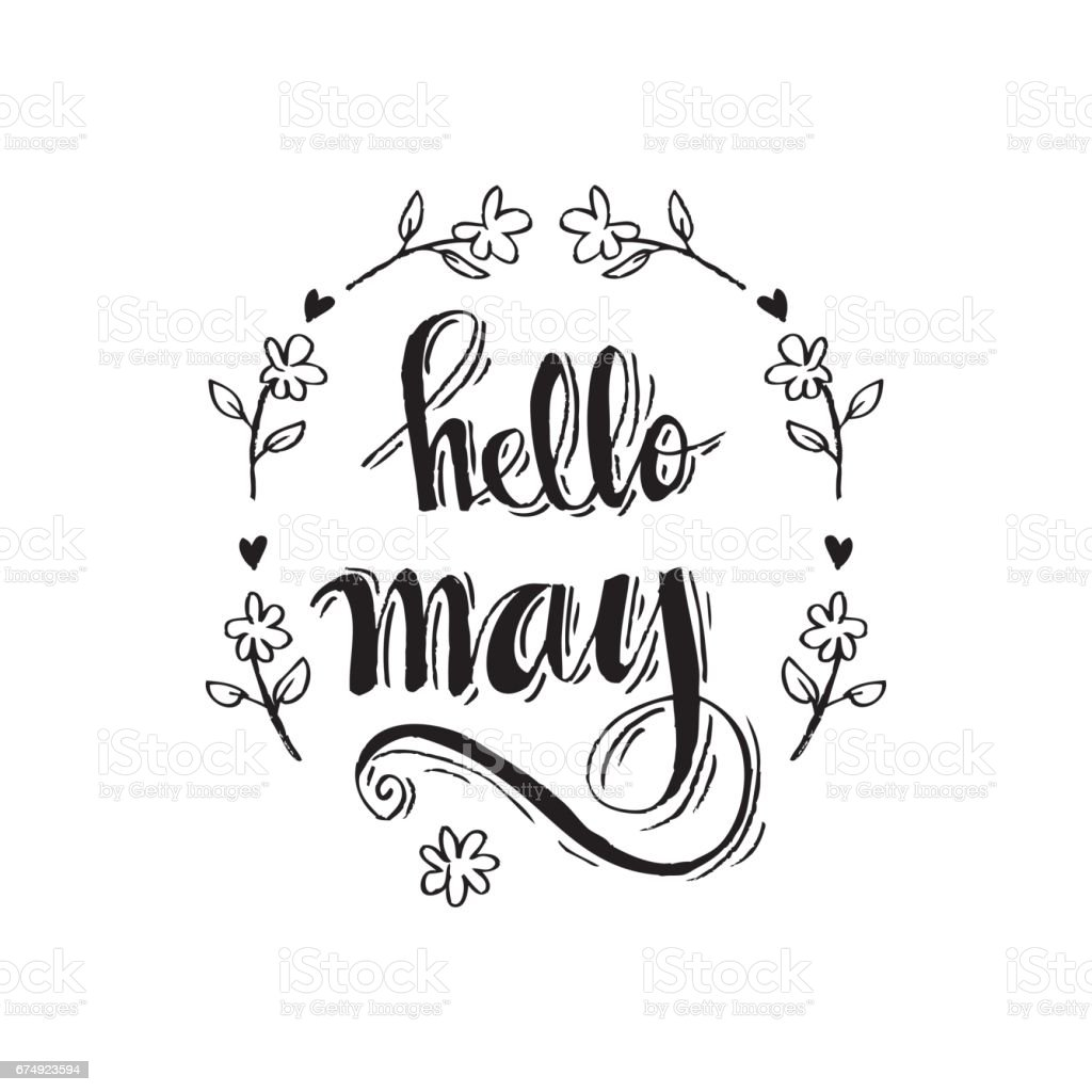 Hello May royalty-free hello may stock vector art & more images of arts culture and entertainment