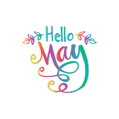 Hello May Stock Illustration - Download Image Now - iStock