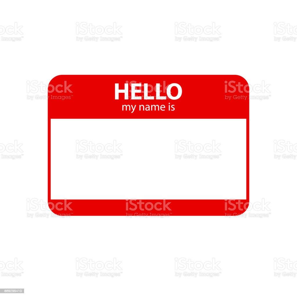 Bonjour mon nom est. Inscription en insigne - Illustration vectorielle