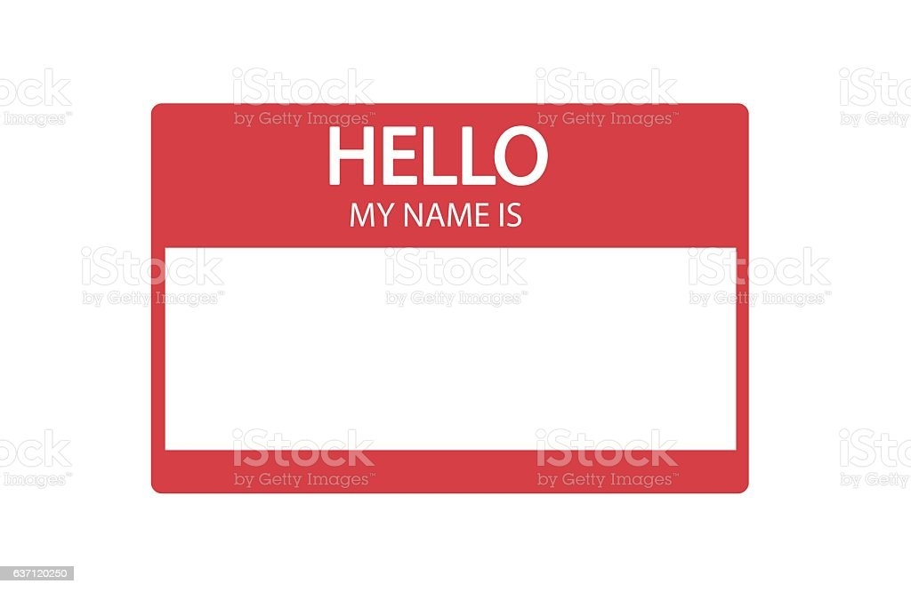royalty free hello my name is sticker clip art vector images rh istockphoto com name clipart black and white name clip art generator