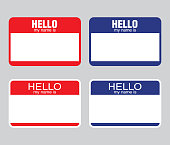 """""""Hello my name is"""" label sticker. vector"""