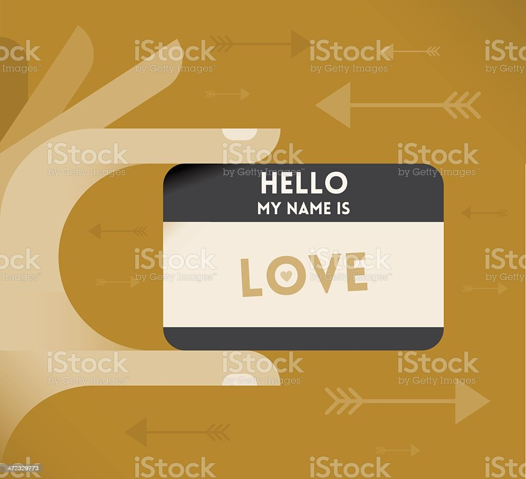 Hello, my name is Love! royalty-free hello my name is love stock vector art & more images of abstract