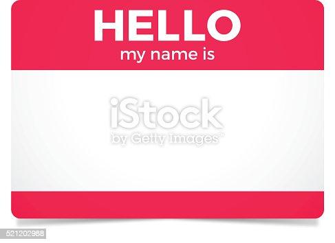 istock Hello My Name Is 521202988