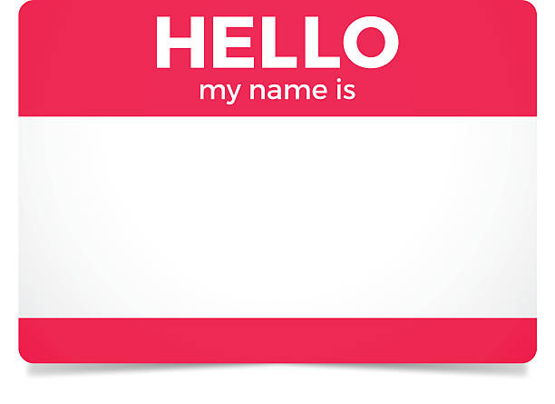 Hello My Name Is Hello my name is sticker or card. EPS 10 file. Transparency effects used on highlight elements. greeting stock illustrations