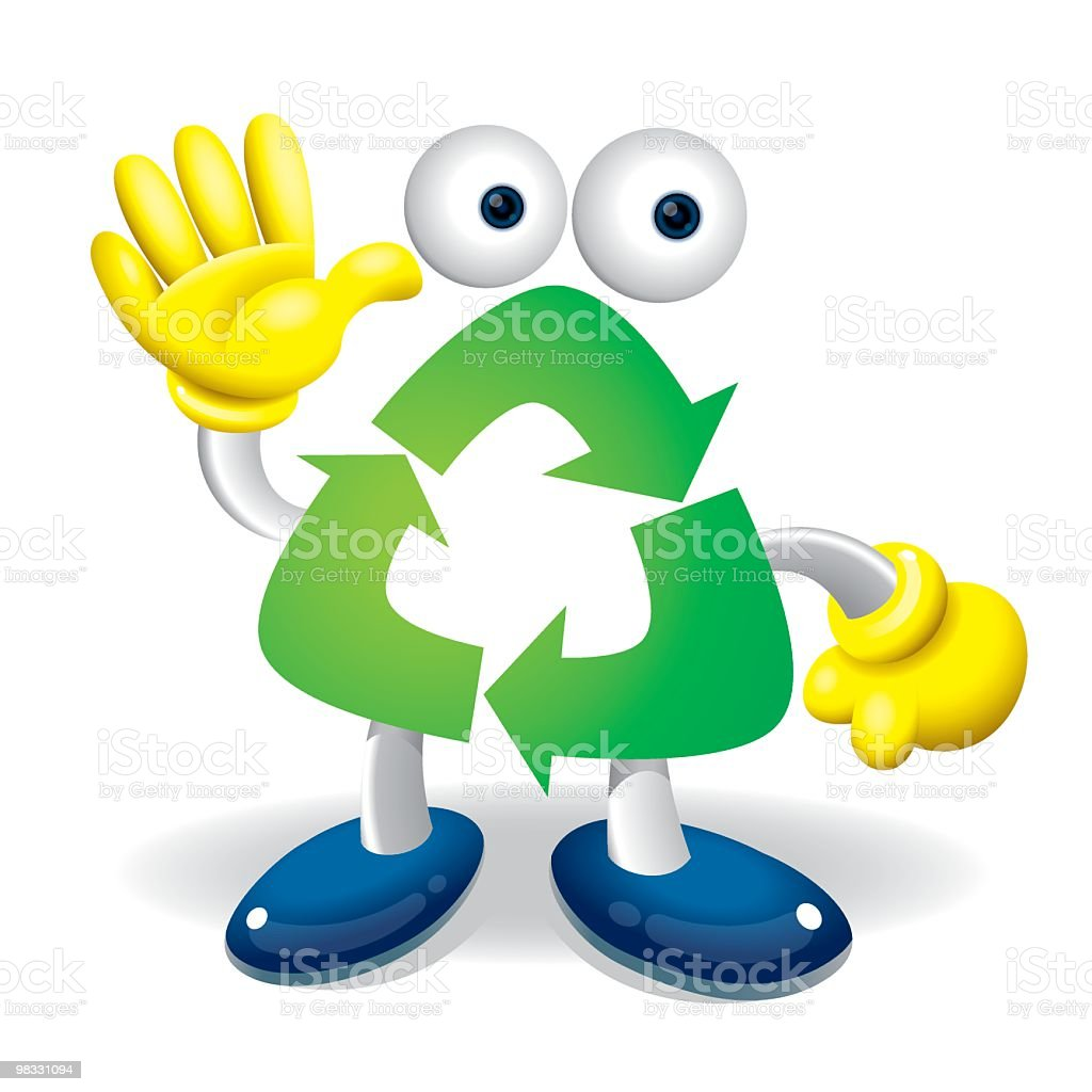 Hello Recycle Boy royalty-free hello recycle boy stock vector art & more images of arrow symbol