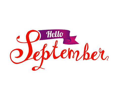hello september hand written doodle word stock illustration download image now istock