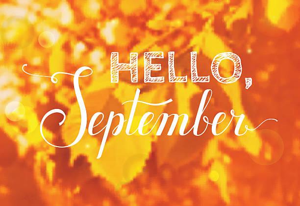september hello background vector clip similar illustrations calendar illustration royalty