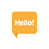 istock Hello Speech Bubble Icon Vector Design. 1277969802