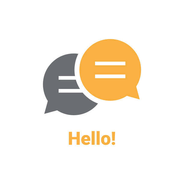 stockillustraties, clipart, cartoons en iconen met hello speech bubble - talking