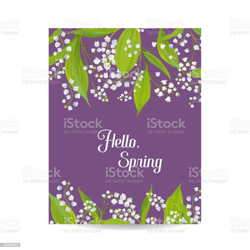 Hello spring floral card for holidays decoration springtime hello spring floral card for holidays decoration springtime background wedding invitation greeting template junglespirit Choice Image