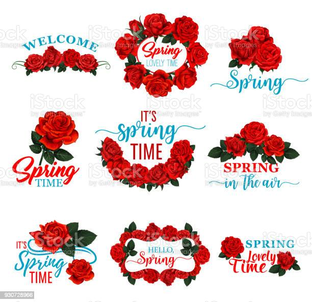 Hello spring floral frame icon of red rose flower vector id930728966?b=1&k=6&m=930728966&s=612x612&h=sove88glzsh1cqptakao2 xj8sxdxbfjupvmmqpsp78=
