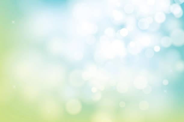 hallo frühlingsgrün bokeh abstrakten hintergrund weichzeichnen. - blase physikalischer zustand stock-grafiken, -clipart, -cartoons und -symbole