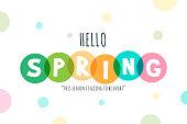 istock Hello Spring lettering stock illustration 1292114400