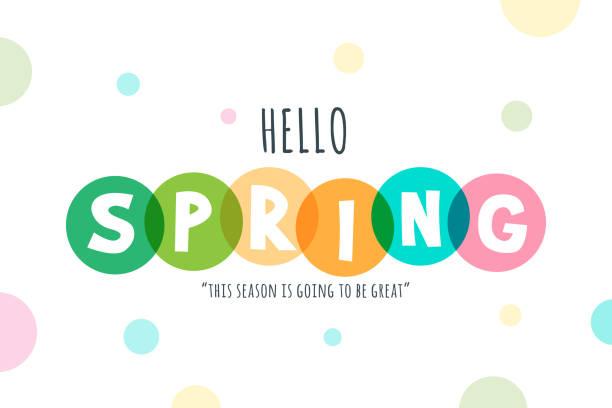 Hello Spring lettering stock illustration vector art illustration