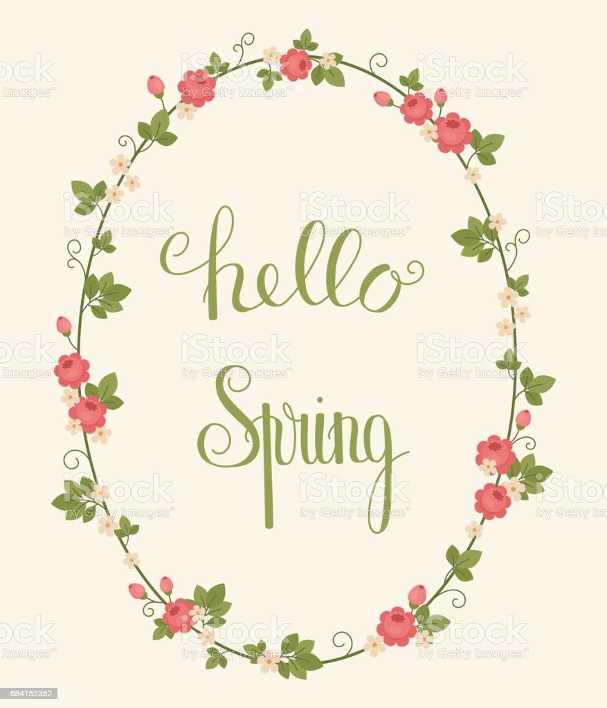 Hello Spring lettering hello spring lettering - immagini vettoriali stock e altre immagini di arte royalty-free
