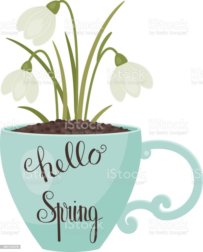 Hello Spring lettering hello spring lettering - stockowe grafiki wektorowe i więcej obrazów abstrakcja royalty-free