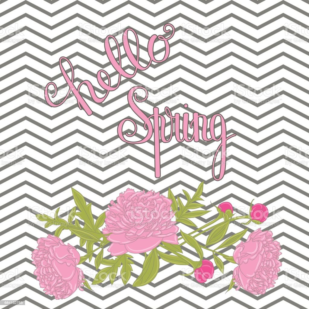 Hello Spring lettering royalty-free hello spring lettering stock vector art & more images of abstract